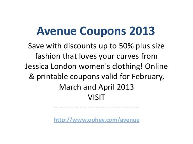 image regarding Avenue Printable Coupons referred to as Street Coupon codes Code February 2013 March 2013 April 2013