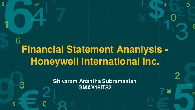 Ppt template ppt template financial statement ananlysis honeywell international inc shivaram anantha subramanian gmay16it82 toneelgroepblik Choice Image