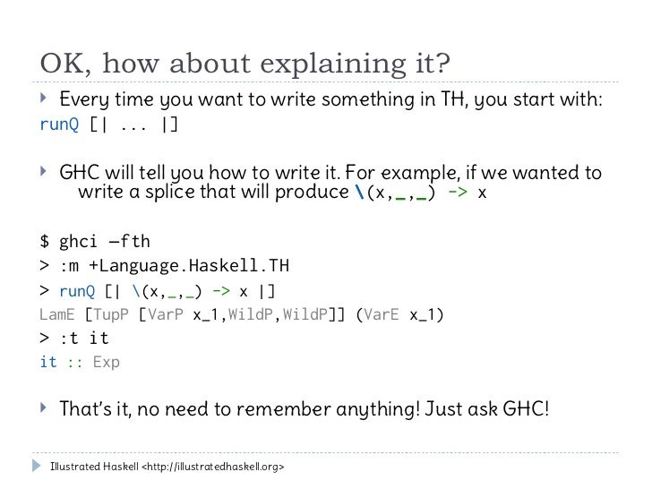 Template Haskell Tutorial
