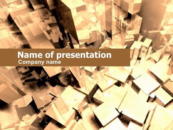 Name of presentation C o mpany name
