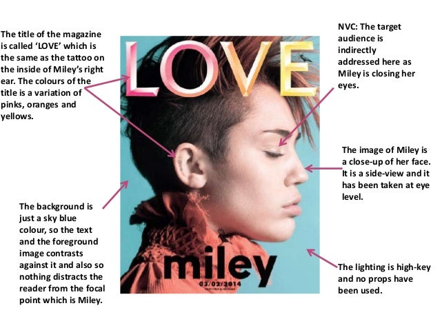 analysis of an example of a cover page from a music magazine