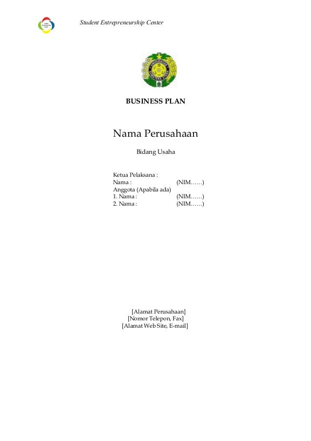 Template Business Plan 2014