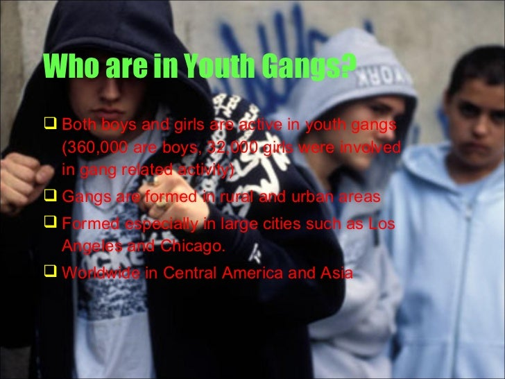 youth and gangs Despite recent declines in juvenile crime, our nation continues to face a youth  gang problem as part of our response to public concern about this problem.