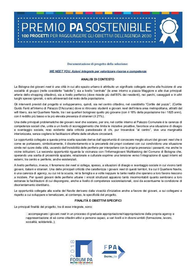 Documentazione di progetto della soluzione: WE NEET YOU. Azioni integrate per valorizzare risorse e competenze ANALISI DI ...
