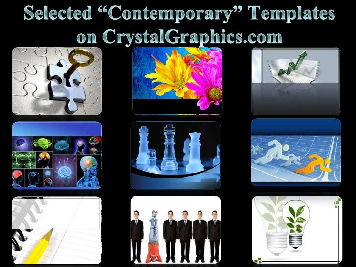 """Selected """"Contemporary"""" Templates on CrystalGraphics.com<br />"""