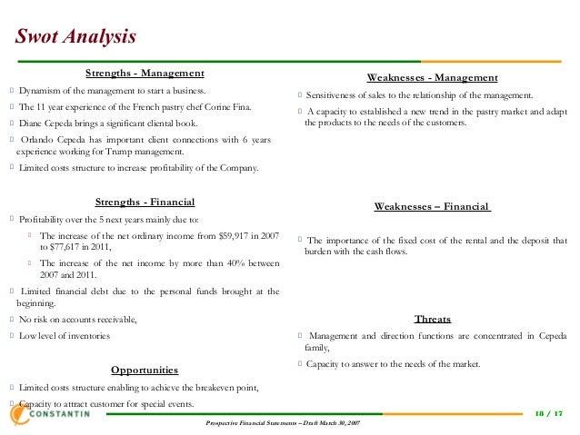 Template financial plan new business