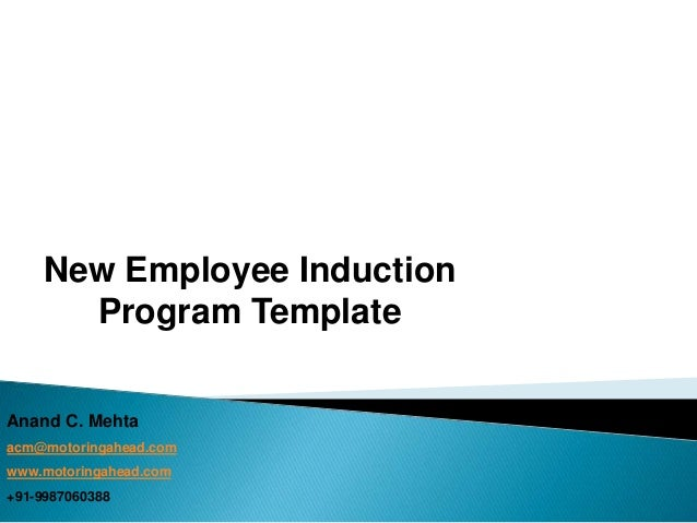 Template for new employee induction program suitable for for New employee orientation template powerpoint