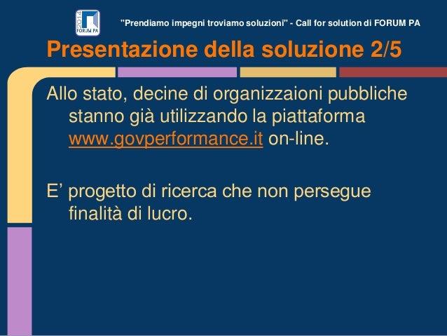 """""""Prendiamo impegni troviamo soluzioni"""" - Call for solution di FORUM PA Allo stato, decine di organizzaioni pubbliche stann..."""