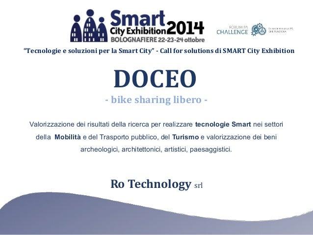"""""""Tecnologie e soluzioni per la Smart City"""" - Call for solutions di SMART City Exhibition Ro Technology srl Valorizzazione ..."""