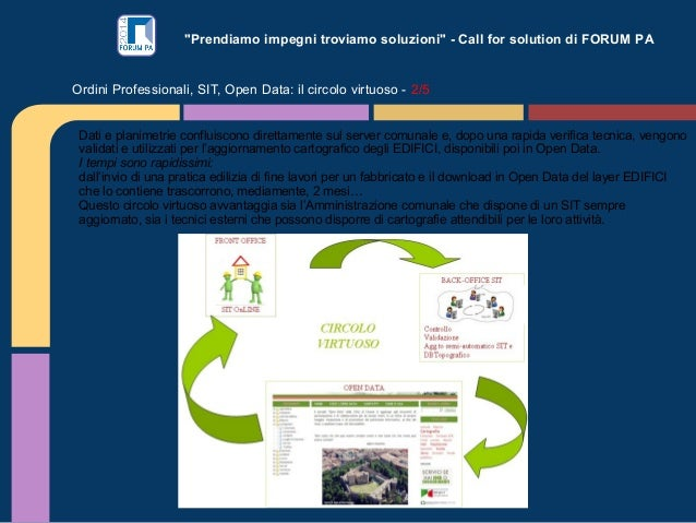 """""""Prendiamo impegni troviamo soluzioni"""" - Call for solution di FORUM PA Ordini Professionali, SIT, Open Data: il circolo vi..."""
