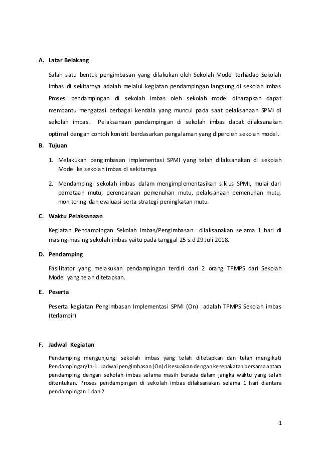 Template Laporan Pengimbasan Bimtek Fasda Spmi Maret 2019