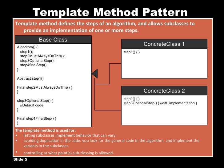 Template method design pattern template method pattern maxwellsz
