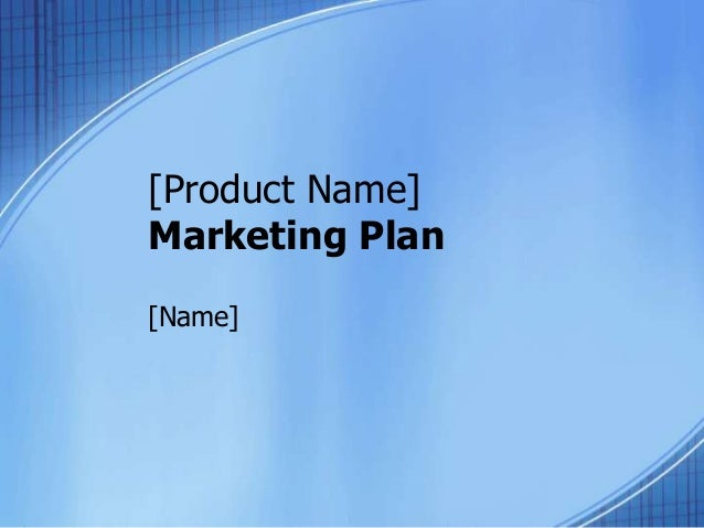 template marketing plan – Product Plan Template