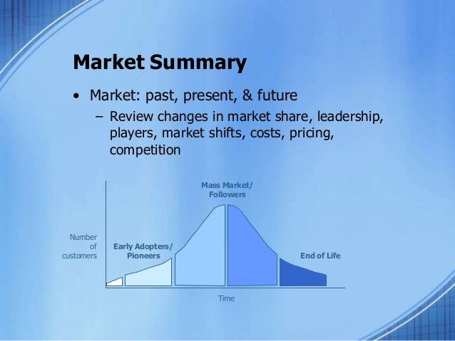 how to write a market summary