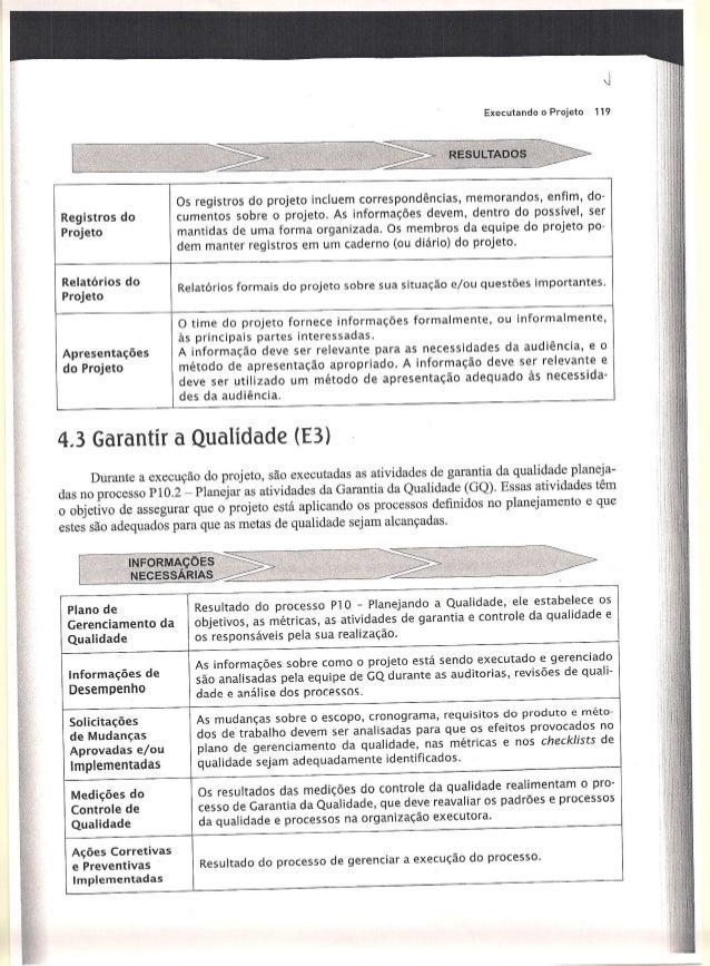 l  Executando o Projeto 119  lliâesuLÍTAooçsi-s     Registros do Projeto  'l Os registros do projeto incluem correspondênc...