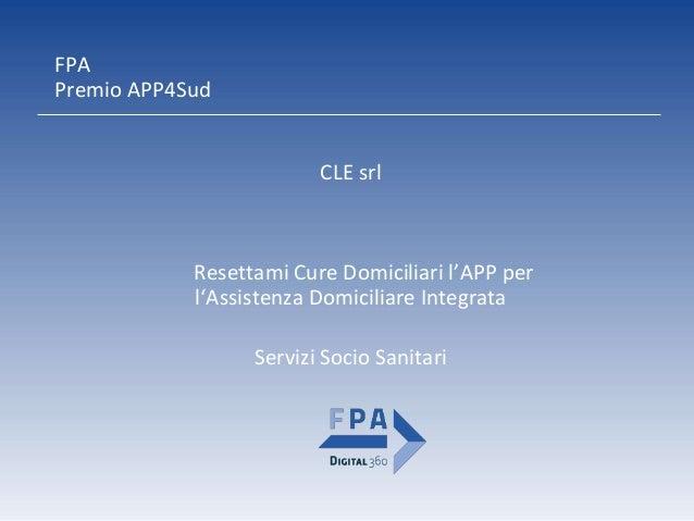 APP Resettami Cure Domiciliari Slide 2
