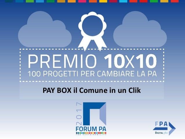 PAY BOX il Comune in un Clik