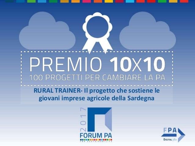 RURAL TRAINER- Il progetto che sostiene le giovani imprese agricole della Sardegna