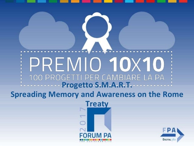 Progetto S.M.A.R.T. Spreading Memory and Awareness on the Rome Treaty