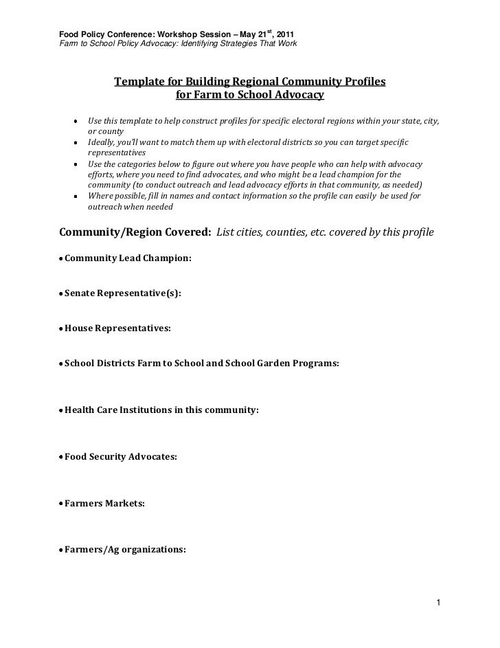 advocacy strategy template - farm to school policy advocacy identifying strategies