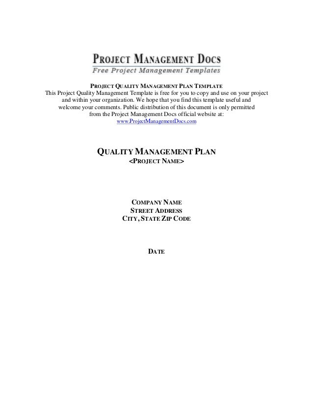 Template quality management plan2 project quality management plan template this project quality management template is free for you to copy maxwellsz
