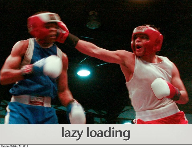 lazy loading Sunday, October 17, 2010
