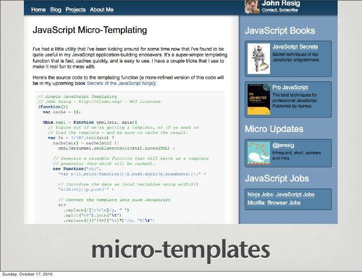 micro-templates Sunday, October 17, 2010