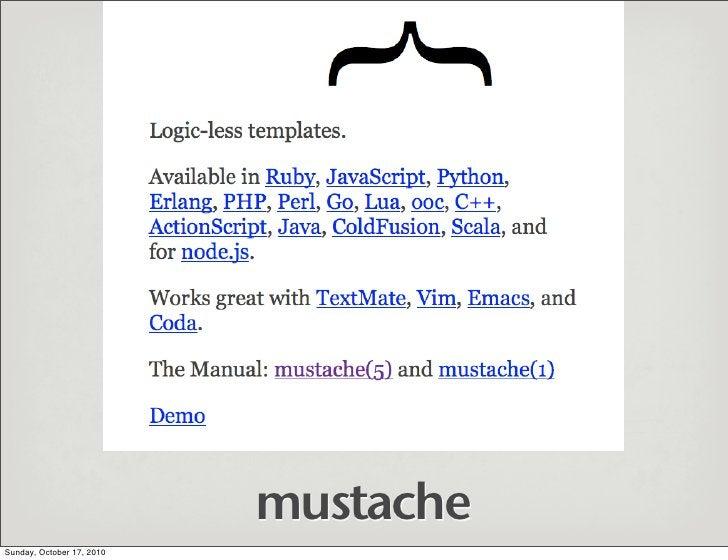 mustache Sunday, October 17, 2010