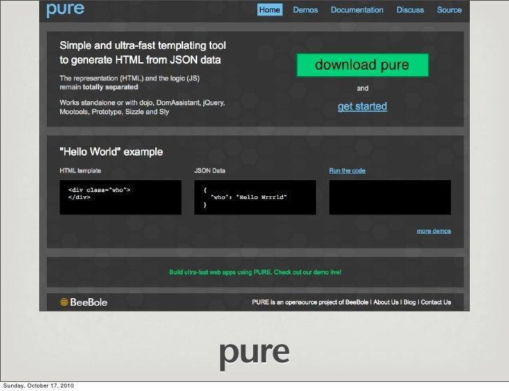 pure Sunday, October 17, 2010