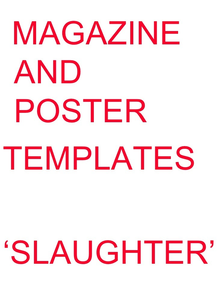 MAGAZINE AND POSTERTEMPLATES'SLAUGHTER'
