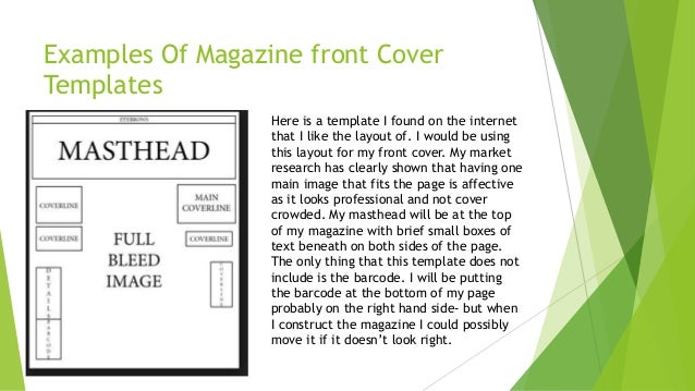 magazine cover layout templates