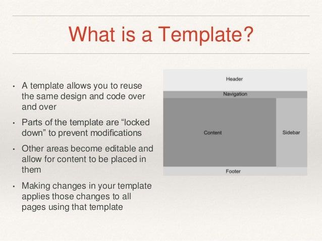 what is tamplate