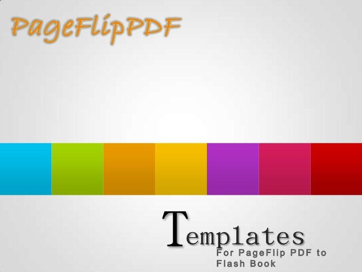 Templates   For PageFlip PDF to   Flash Book