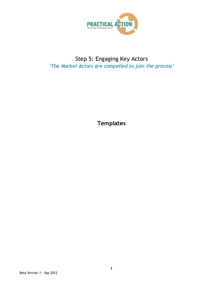 Step 5: Engaging Key Actors                   'The Market Actors are compelled to join the process'                       ...