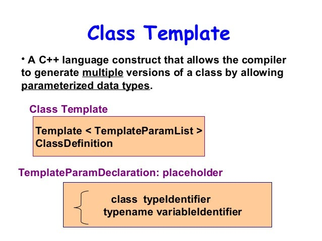 Templates Exception Handling