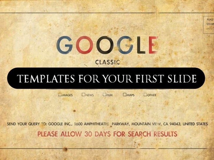 Templates For your First Slide II