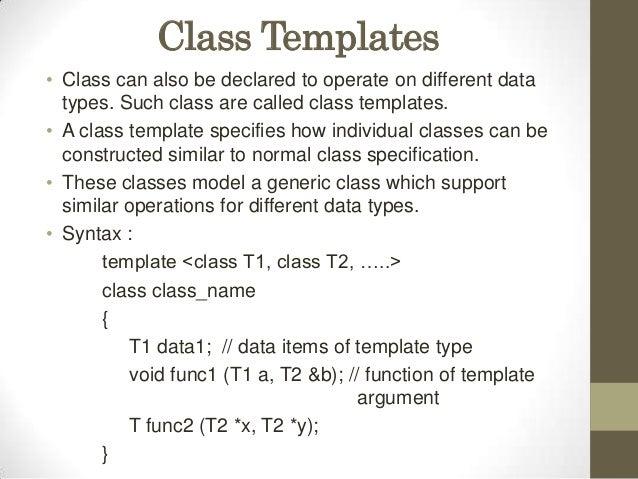 class template