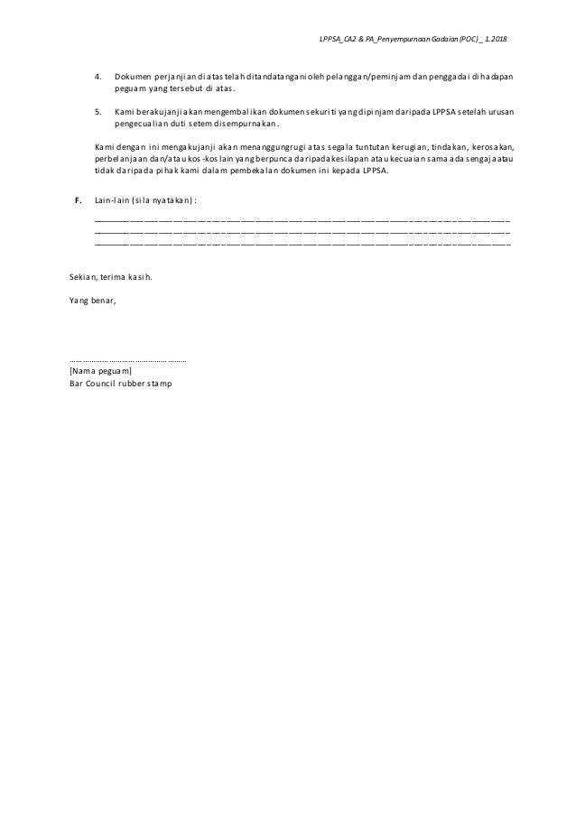 Template Surat Guaman