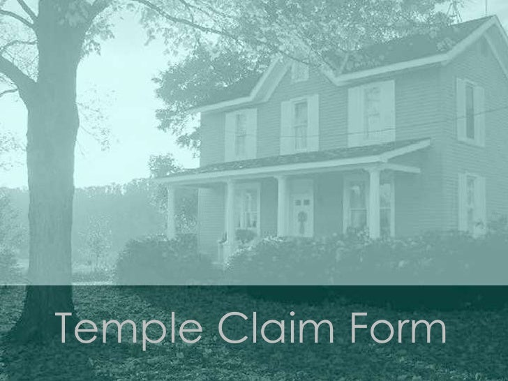 Temple Claim Form <br />