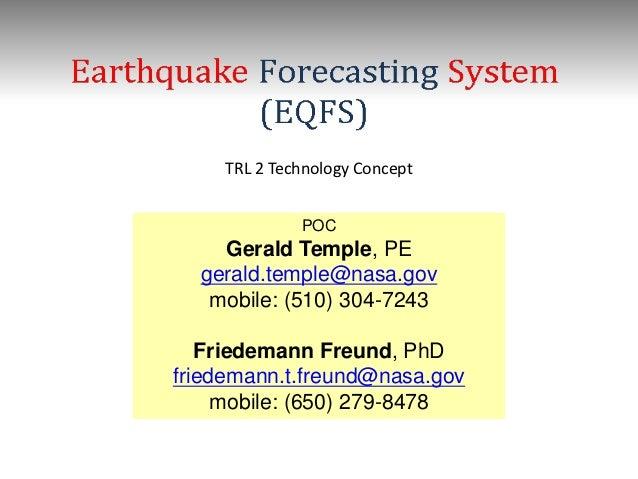 TRL 2 Technology Concept              POC    Gerald Temple, PE  gerald.temple@nasa.gov   mobile: (510) 304-7243   Friedema...