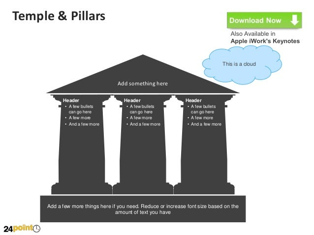 Editable Temple Diagram For Ppt
