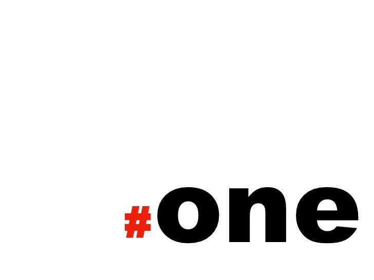 one<br />#<br />