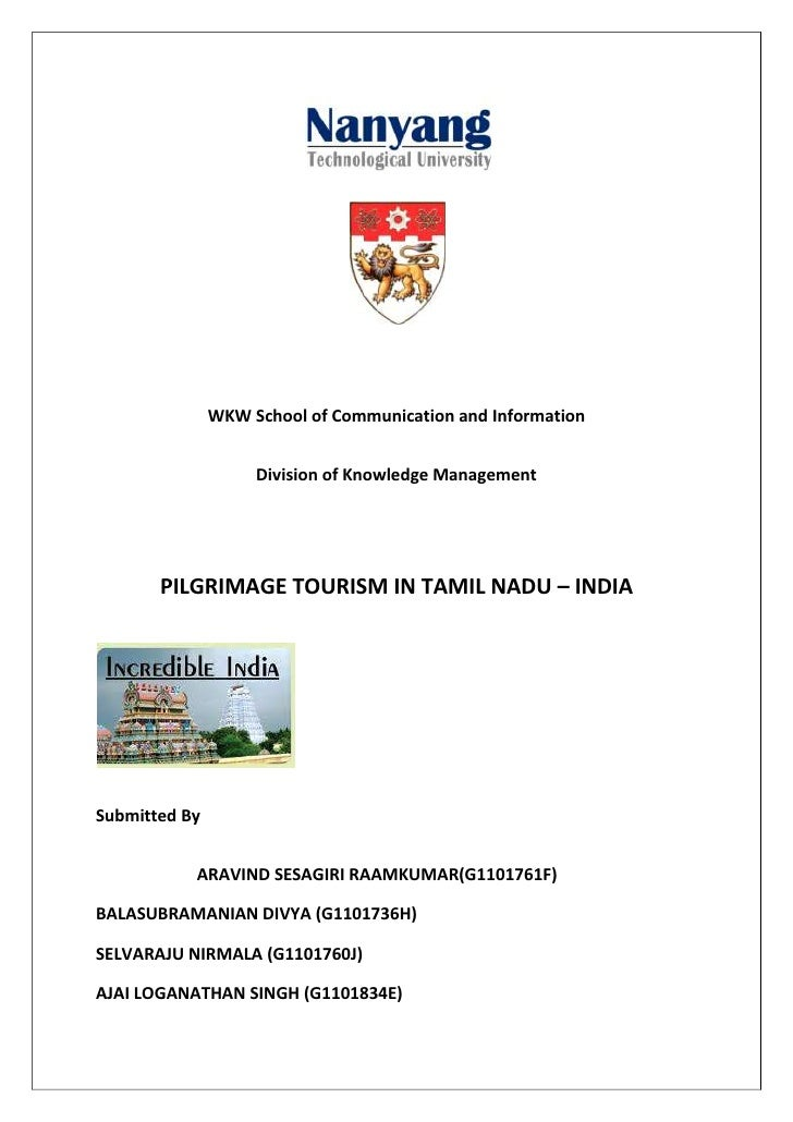 WKW School of Communication and Information                    Division of Knowledge Management       PILGRIMAGE TOURISM I...