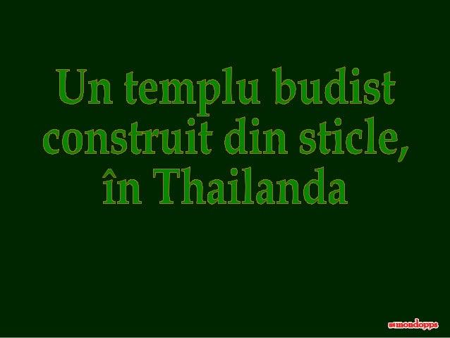 Templul Wat Pa Maha Chedi Kaew, din provincia thailandeză Sisaket, surprinde deoarece este construit din sticle.