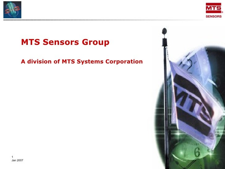 MTS Sensors Group  A division of MTS Systems Corporation