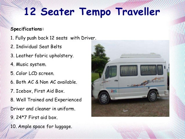 15 seater tempo traveller in bangalore dating 6