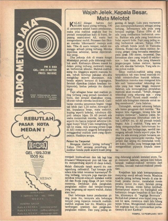 Majalah Tempo, 12 Pebruari 1977 (UFO) Slide 3
