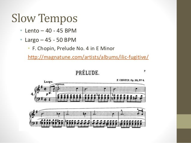 Music tempo marks.