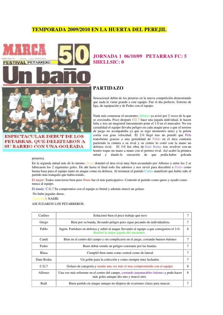 TEMPORADA 2009/2010 EN LA HUERTA DEL PEREJIL                                                 JORNADA 1 06/10/09 PETARRAS F...