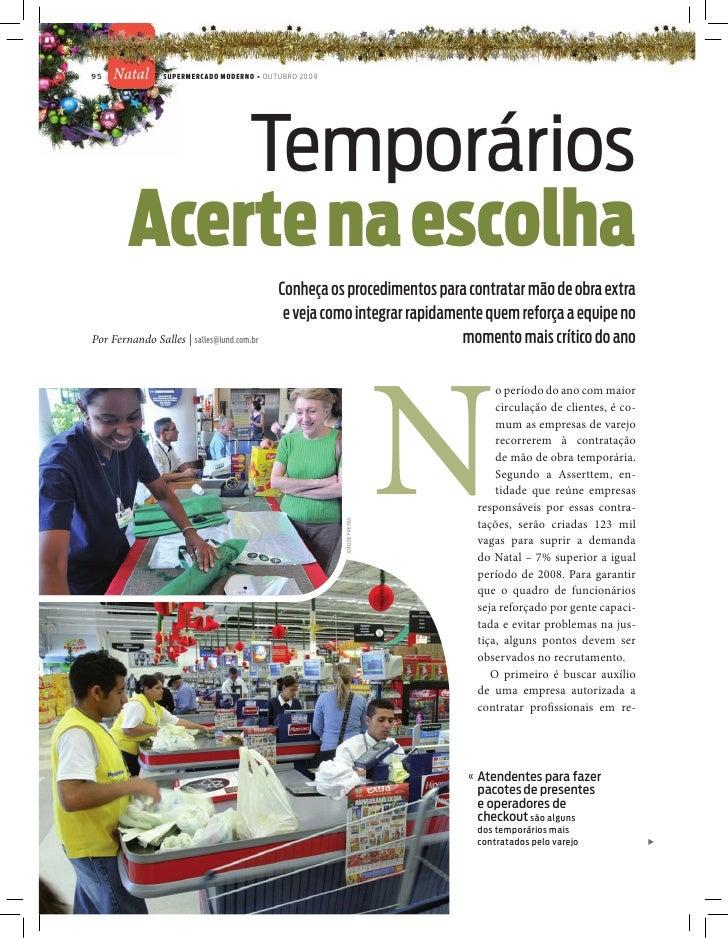 95   Natal       SUPERMERCADO MODERNO • OUTUBRO 2009                 Temporários         Acerte na escolha                ...